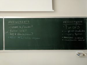 A blackboard listing some suggested improvements for kdesrc-build